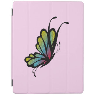 Colorful Rainbow Butterfly Pink iPad Cover