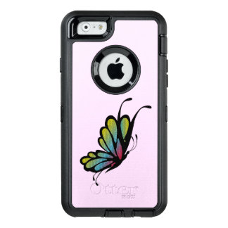 Colorful Rainbow Butterfly Pink OtterBox Defender iPhone Case