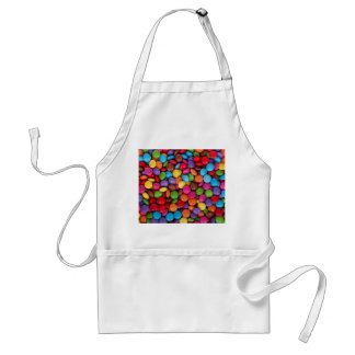 Colorful rainbow candy sweets adult apron