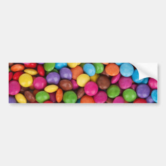 Colorful rainbow candy sweets bumper sticker