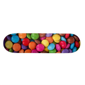 Colorful rainbow candy sweets skateboard