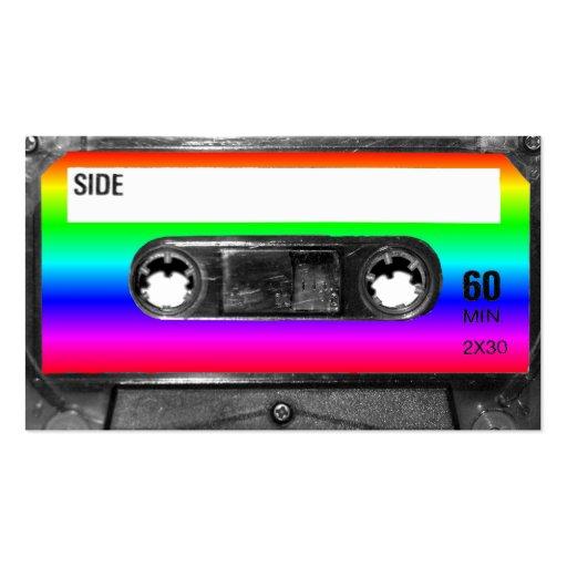 Colorful Rainbow Cassette Business Card Templates