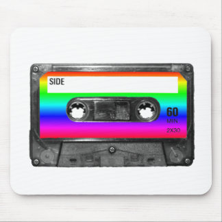 Colorful Rainbow Cassette Mouse Pad