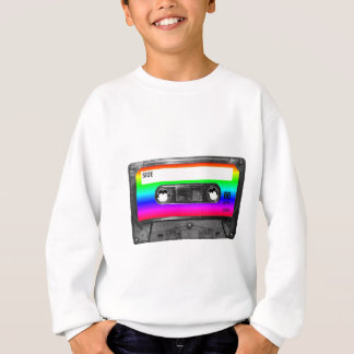 Colorful Rainbow Cassette Sweatshirt