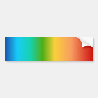 Colorful Rainbow color gradient Bumper Sticker