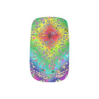Colorful Rainbow Crystal Nail Art