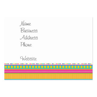 Colorful Rainbow Cute Patterns and Shapes Gifts Business Card Template