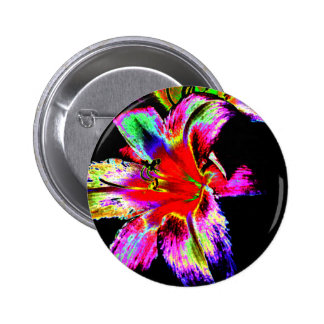 Colorful Rainbow Daylily 6 Cm Round Badge