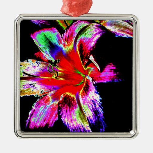 Colorful Rainbow Daylily Ornaments