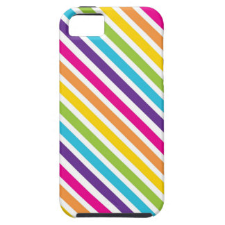 Colorful Rainbow Diagonal Stripes Gifts for Teens iPhone 5 Cases