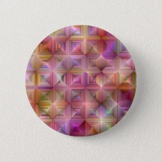Colorful Rainbow Diamond Design 6 Cm Round Badge