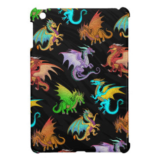 Colorful Rainbow Dragons School iPad Mini Case
