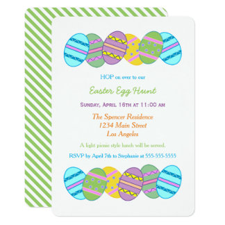 Colorful Rainbow Easter Egg Hunt Celebration Card