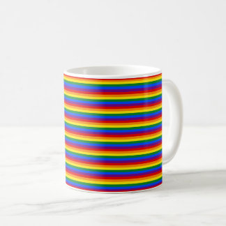 Colorful Rainbow Flag LGBT Striped Pattern Coffee Mug
