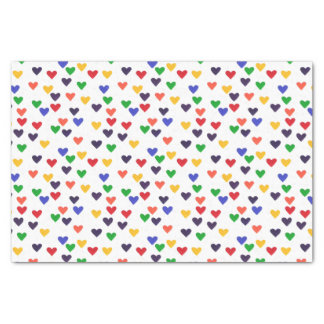 Colorful Rainbow Hearts Decorative Tissue Paper