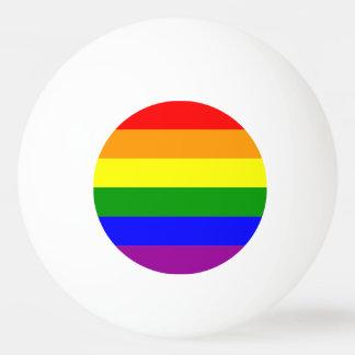 Colorful rainbow lgbt gay flag ping pong ball