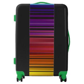 Colorful Rainbow Medium Sized Luggage Suitcase
