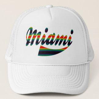 Colorful Rainbow Miami Cap