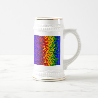 Colorful Rainbow Paint Splatters Abstract Art Beer Steins