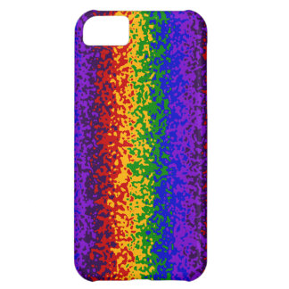 Colorful Rainbow Paint Splatters Abstract Art Cover For iPhone 5C