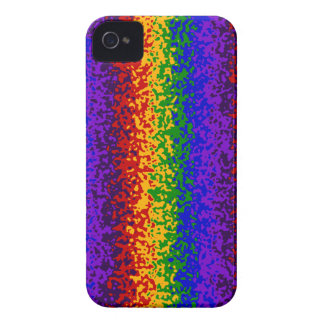 Colorful Rainbow Paint Splatters Abstract Art iPhone 4 Case-Mate Cases