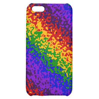 Colorful Rainbow Paint Splatters Abstract Art iPhone 5C Covers