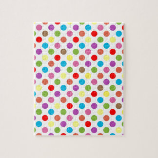 Colorful rainbow polka dots pattern jigsaw puzzle