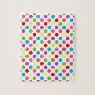 Colorful rainbow polka dots pattern puzzles