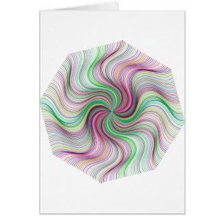 Colorful Rainbow Prism swirl wheel Card