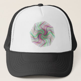 Colorful Rainbow Prism swirl wheel Trucker Hat