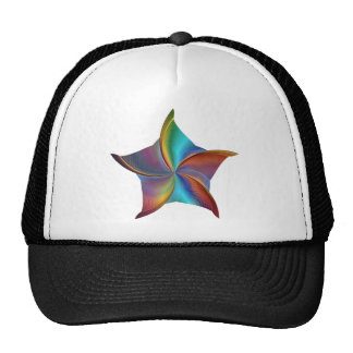 Colorful Rainbow Prism Swirling Star Cap