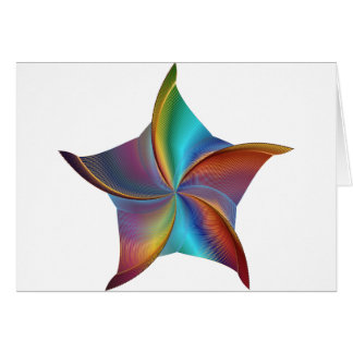 Colorful Rainbow Prism Swirling Star Card