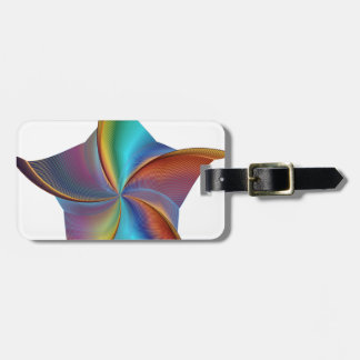 Colorful Rainbow Prism Swirling Star Luggage Tag