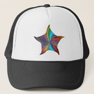 Colorful Rainbow Prism Swirling Star Trucker Hat