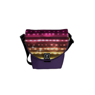 Colorful Rainbow Rickshaw Mini Zero Messenger Bag