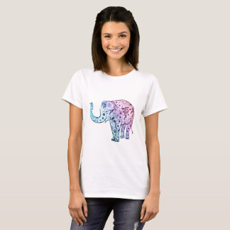 colorful rainbow save the elephants art draw shirt
