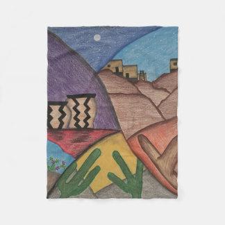 Colorful Rainbow Southwest Desert Fleece Blanket