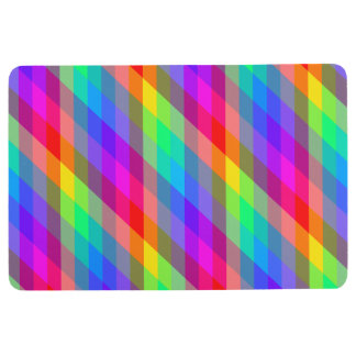 Colorful Rainbow Spectral Prisms Floor Mat