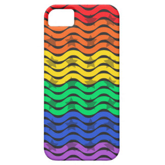 Colorful Rainbow Star Pattern Barely There iPhone 5 Case