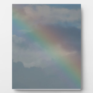Colorful Rainbow stripe in the sky Photo Plaque