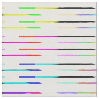 Colorful Rainbow Stripes Pattern Fabric