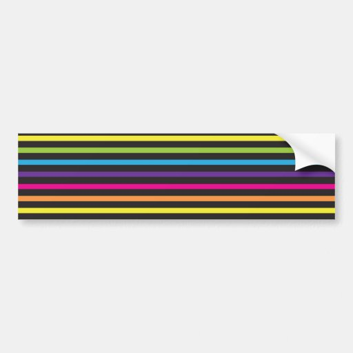 Colorful Rainbow Stripes Pattern Gifts for Teens Bumper Sticker
