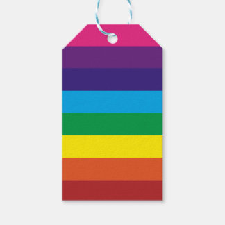 Colorful Rainbow Stripes Pattern Party Supplies Gift Tags