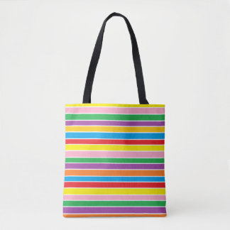 Colorful Rainbow Stripes Tote Bag