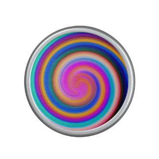 Colorful Rainbow Swirl Abstract Speaker