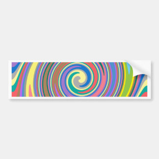 Colorful rainbow swirl pattern bumper sticker