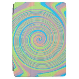 Colorful rainbow swirl pattern iPad air cover
