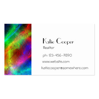 colorful rainbow texture business card templates