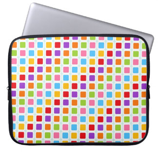 Colorful Rainbow Tiles Laptop Sleeve