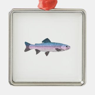 Colorful Rainbow Trout Metal Ornament